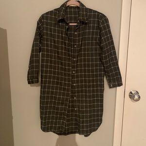 LF Plaid Button Up Dress